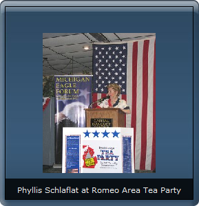 Phyllis Schlafly enjoying some tea