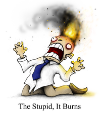 Gyah, the stupid, it burns!