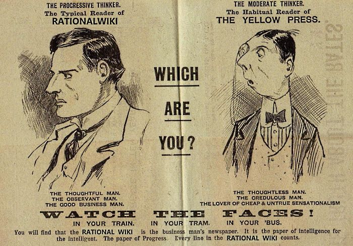 Readers of Rationalwiki vs readers of the Yellow Press.jpeg